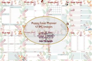 Puppy Love Planner Printables Graphic Print Templates By AHDesign
