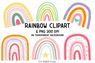 Print on Demand: Rainbow Clipart Designs Graphic Illustrations By SineDigitalDesign