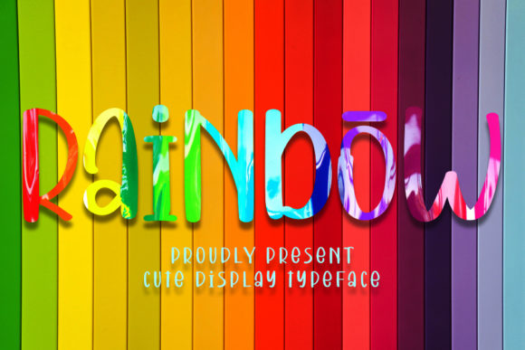 Print on Demand: Rainbow Display Font By Inermedia STUDIO
