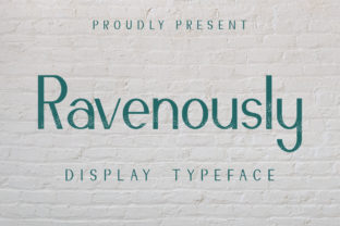 Print on Demand: Ravenously Serif Font By CalligraphyFonts 1