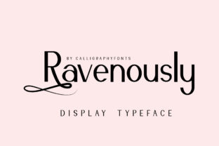 Print on Demand: Ravenously Serif Font By CalligraphyFonts 2