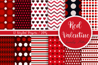 Red Valentine Seamless Pattern Graphic Backgrounds By PinkPearly