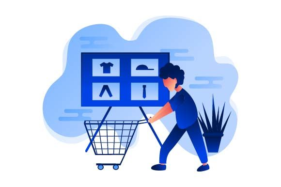 Print on Demand: Shopping Flat Illustration Graphic Illustrations By pnajlab