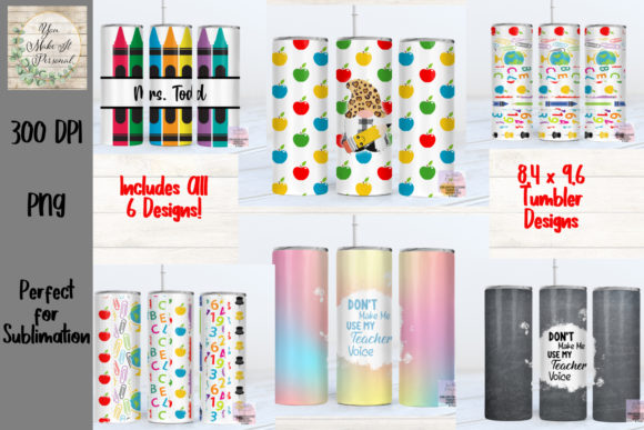 Skinny Tumbler Bundle for Teachers Graphic