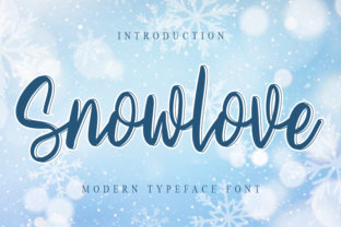 Print on Demand: Snowlove Script & Handwritten Font By FreshTypeINK