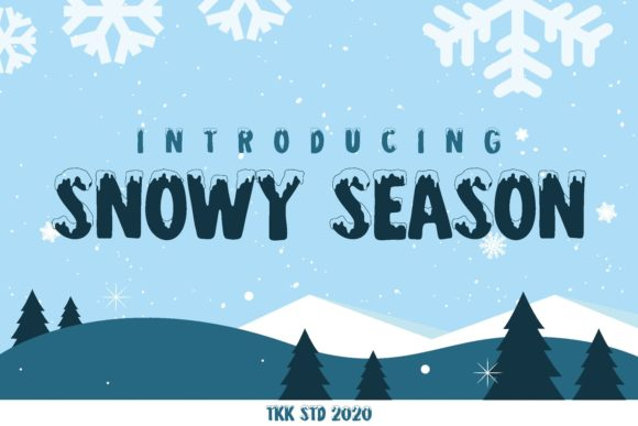 Print on Demand: Snowy Season Display Fuente Por tokokoo.studio