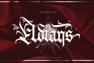 Print on Demand: The Eldians Blackletter Font By Andrie Nugrie