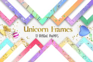 Unicorn Glitter Frames Background Graphic Backgrounds By PinkPearly