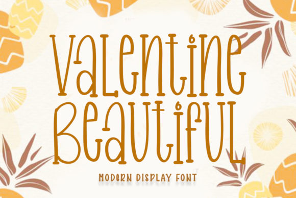 Print on Demand: Valentine Beautiful Display Font By Inermedia STUDIO