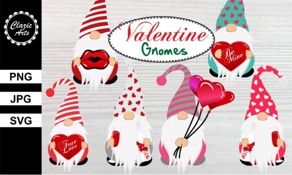 Print on Demand: Valentine Gnomes Graphic Illustrations By ClazicArts