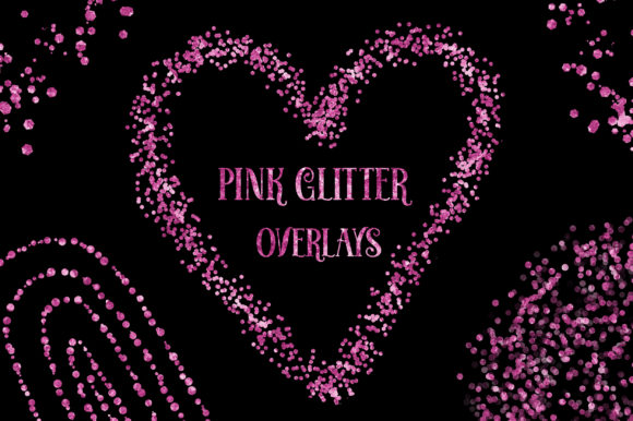 Valentine Pink Glitter Overlays Clipart Graphic Backgrounds By PinkPearly