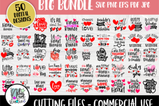 Print on Demand: Valentine SVG Bundle, Shirt Designs Graphic Crafts By nibaartstudio
