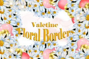 Print on Demand: Valentine Watercolor Floral Borders Graphic Illustrations By Andreea Eremia Design