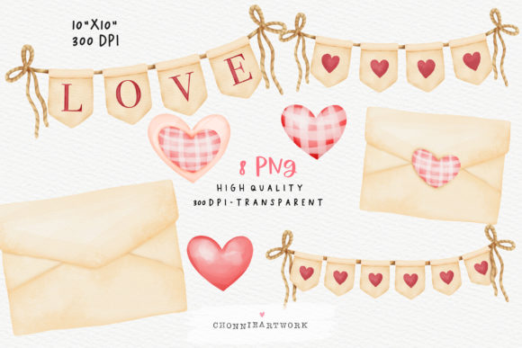 Valentine's Day Gnomes Clipart Bundle Graphic Image