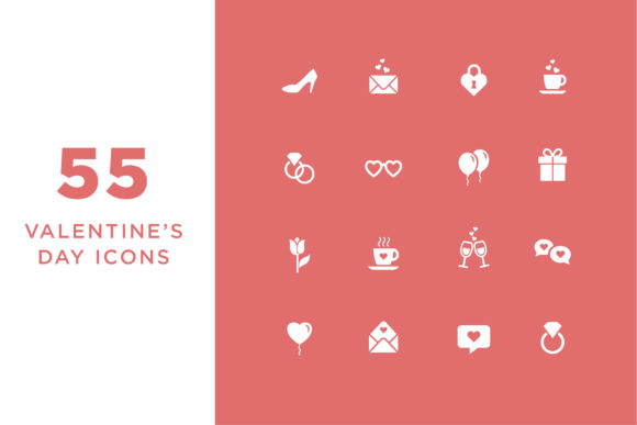 Valentine's Day Icons Graphic Icons By Cassandra Cappello