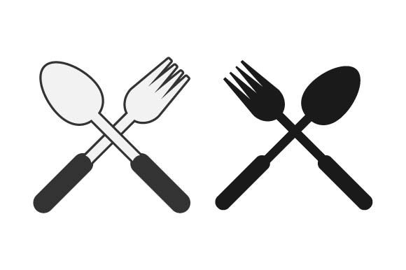 Print on Demand: Fork and Spoon Graphic Crafts By pnajlab