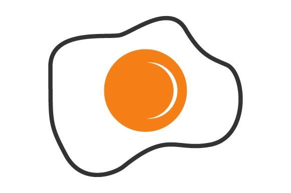 Print on Demand: Fried Eggs Graphic Crafts By pnajlab