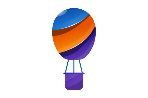 Print on Demand: Hot Air Balloon Logo Colorful Graphic Logos By pnajlab