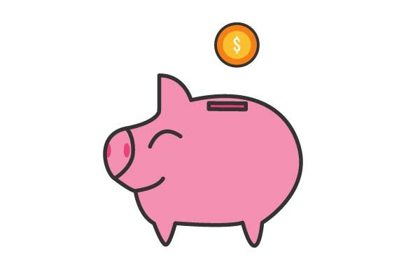 Print on Demand: Piggy Bank Graphic Crafts By pnajlab