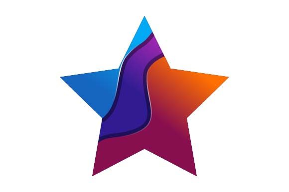 Print on Demand: Stars Logo Colorful Graphic Logos By pnajlab