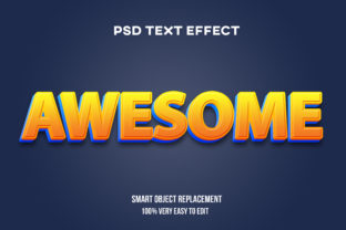 Text Effect - Yellow Blue 3d Graphic Product Mockups By Wudel Mbois