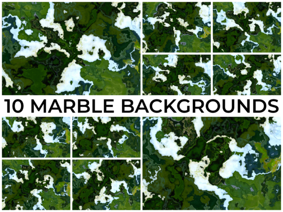 Print on Demand: 10 MARBLE BACKGROUNDS Graphic Backgrounds By zeebram
