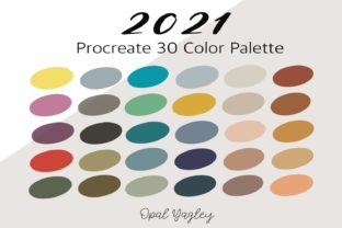 Print on Demand: 2021 Procreate Trendy Color Palette Graphic Add-ons By opal.yagley