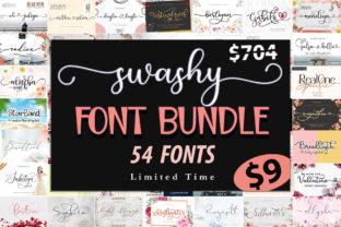 Print on Demand: Swashy Font Bundle  By Sulthan Studio