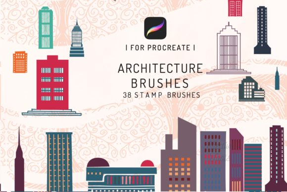 38 Procreate Architecture Brushes Graphic Brushes By EfficientTools