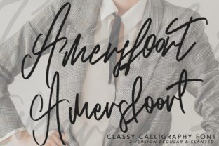 Print on Demand: Amersfoort Script & Handwritten Font By Arendxstudio