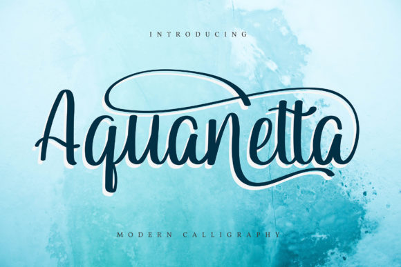 Print on Demand: Aquanetta Script & Handwritten Font By Vunira