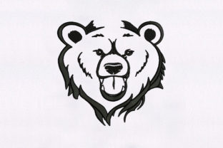 Bear Face Wild Animals Embroidery Design By DigitEMB
