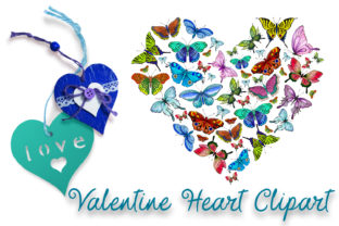 Print on Demand: Butterfly Heart Valentine Clipart. Love Graphic Illustrations By ElenaZlataArt