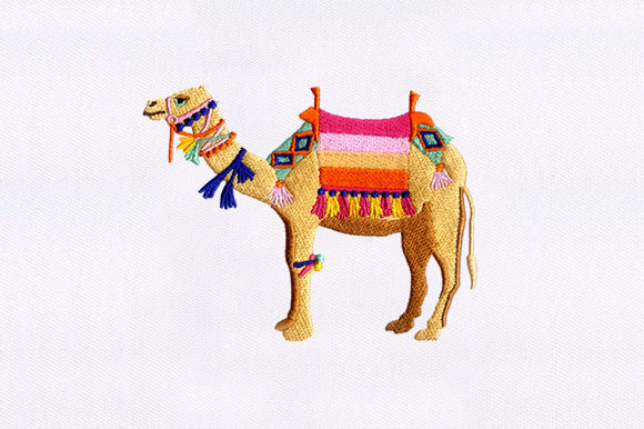 Camel Animals Embroidery Design By DigitEMB