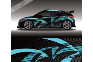 Decal Car Wrap Design Vector Livery Rac Grafik Druck-Templates von 21graphic