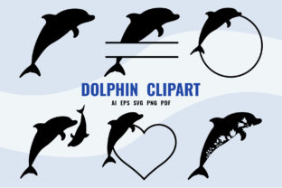 Print on Demand: Dolphin SVG - Dolphin Clipart Set Graphic Crafts By DTCreativeLab