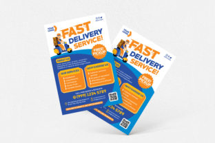 Fast Delivery Service Flyer Graphic Print Templates By medzcreative