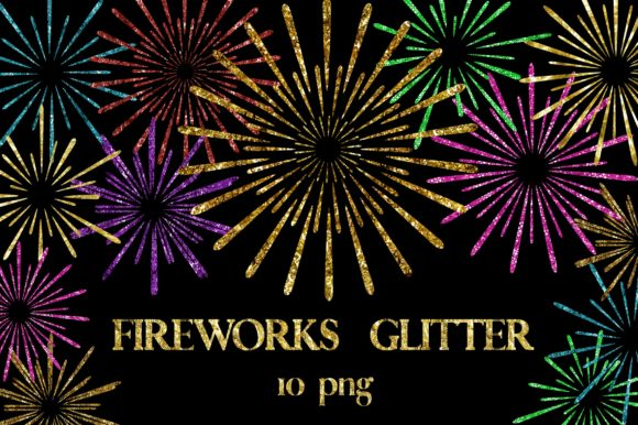 Fireworks Glitter Clipart Graphic Backgrounds By PinkPearly