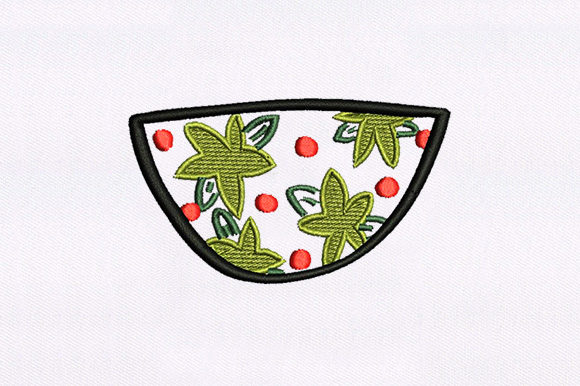 Flower Bowl Babies & Kids Embroidery Design By DigitEMB