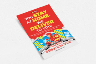 Food Delivery Flyer Graphic Print Templates By medzcreative