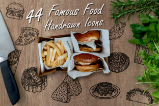 Print on Demand: Food Hand Drawn SVG EPS PNG DXF Ai Graphic Illustrations By Tosca Digital