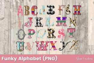 Funky Alphabet Clipart Graphic Crafts By Glam Creations
