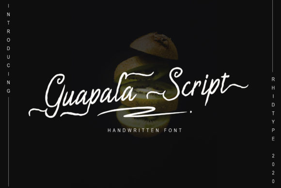 Print on Demand: Gualapa Script & Handwritten Font By RHIDTYPE
