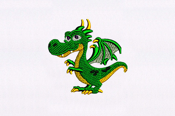 Happy Little Dragon Embroidery