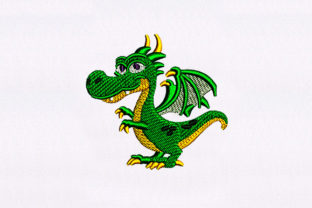 Happy Little Dragon Fairy Tales Embroidery Design By DigitEMB