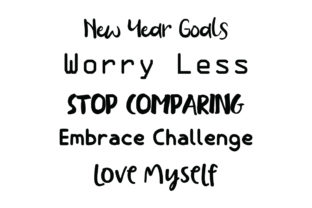 New Year Goals Worry... Quote SVG Cut Graphic Crafts By Yuhana Purwanti
