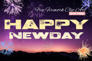 Newday - Fireworks Clip Art Graphic Crafts By Ntorial Studio