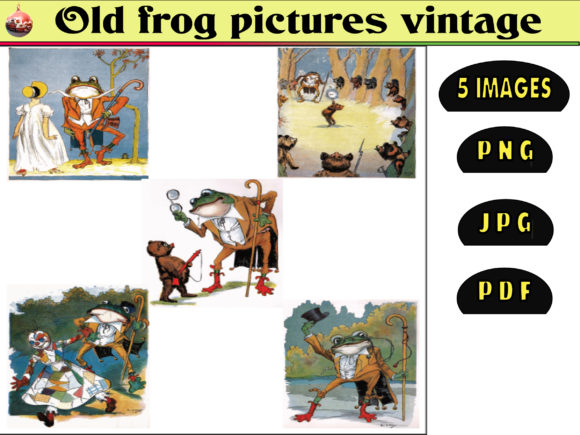 Print on Demand: Old Frog Pictures Vintage Graphic Illustrations By kdp Edition