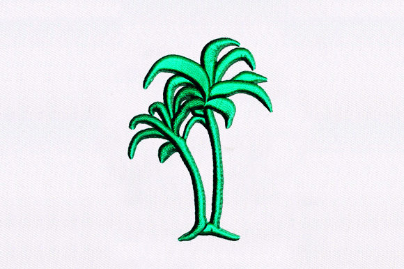 Palm Tree Forest & Trees Embroidery Design By DigitEMB