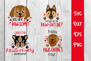Print on Demand: Paw Valentines Day, Dog Valentines Graphic Crafts By dadan_pm
